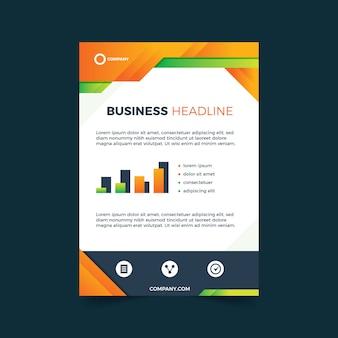 Abstrakte vorlage für detaillierte business-flyer