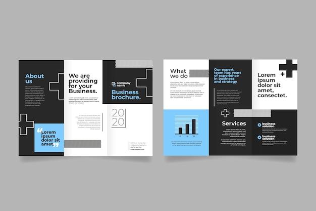 Abstrakte vorlage für dreifach gefaltete broschüre