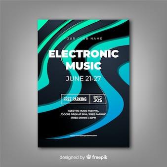 Abstrakte vorlage für elektronische musik