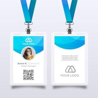 Abstrakte vorlage für id-karten mit foto