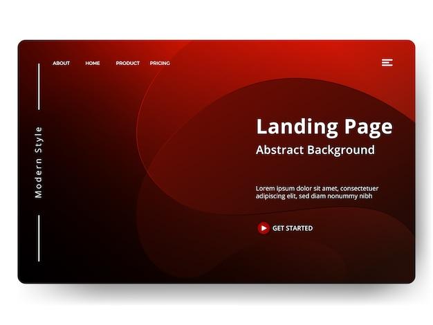 Abstrakte vorlage landing page
