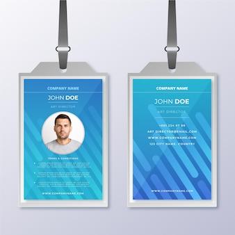 Abstrakte vorlage mit foto für id-karten