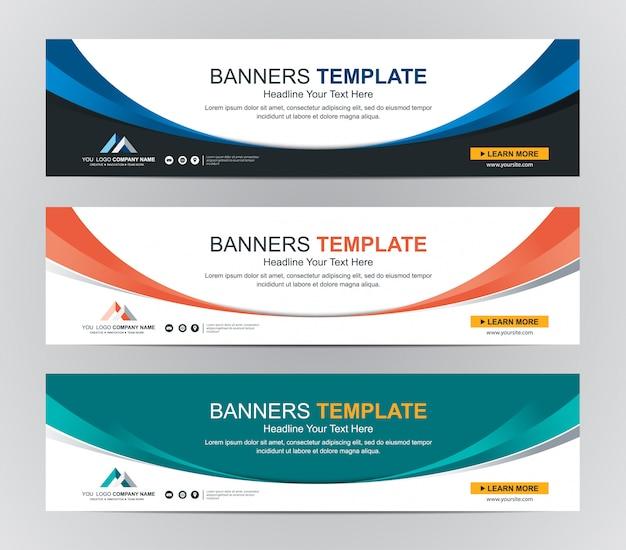 Abstrakte web-banner design hintergrund oder header-vorlagen