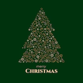 Abstrakte weihnachtsbaumillustration
