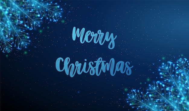 Abstrakte weihnachtskarte mit tannenzweig