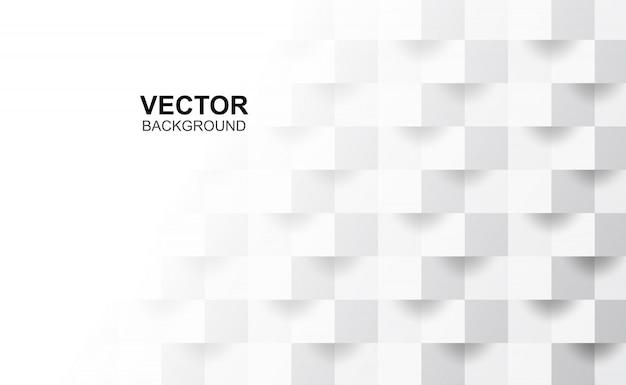 Abstrakte weiße geometrische form 3d