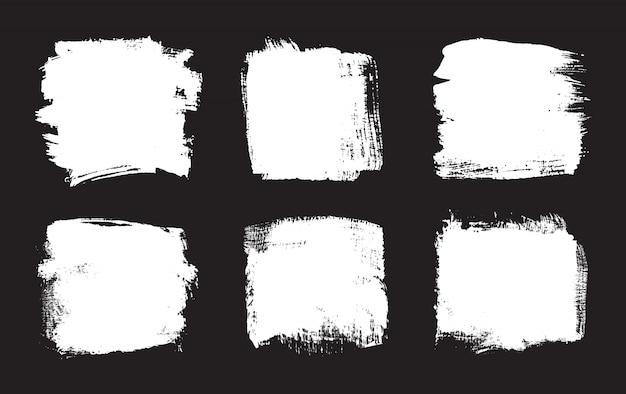 Abstrakte weiße grunge-rahmen