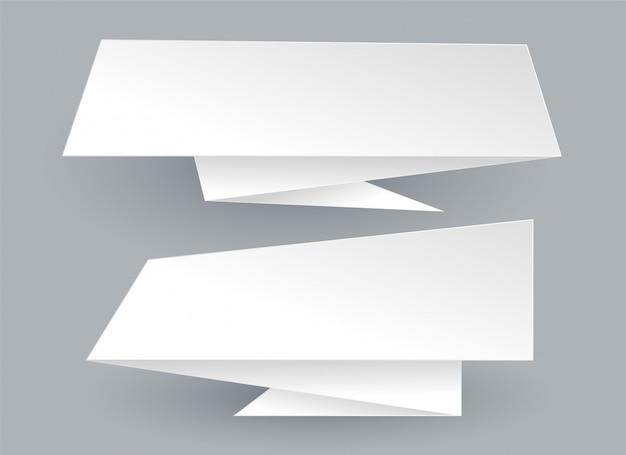Abstrakte weiße leere origami chat-blase