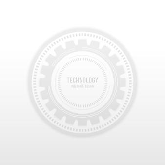 Abstrakte weiße technologie-schnittstelle der geometrischen entwurfsgrafikschablone. tech cover header für den kopierbereich des texthintergrunds.