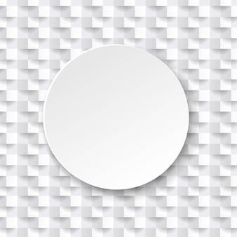 Abstrakte weiße textur mit kugel