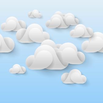 Abstrakte weiße wolken