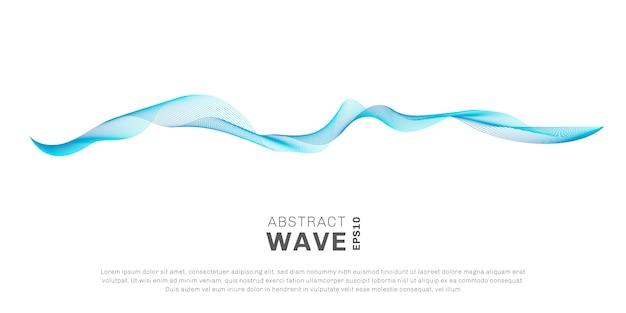 Abstrakte welle blaue linien
