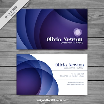 Abstrakte wellen corporate card