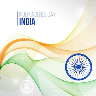 Abstrakte wellen hintergrund der indischen unabhängigkeit