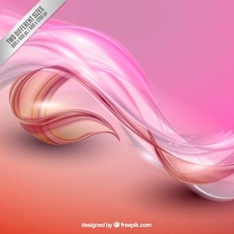 Abstrakte wellen hintergrund in rosa tönen