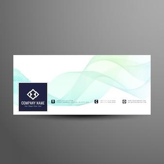 Abstrakte wellenförmige facebook timeline banner vorlage