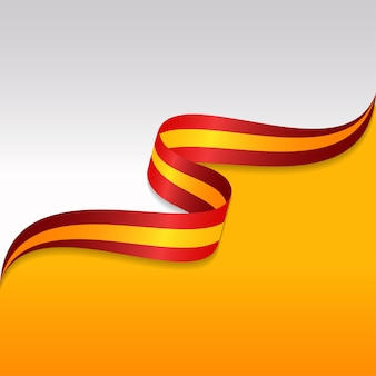 Abstrakte wellenförmige flagge des spaniens mit bandart