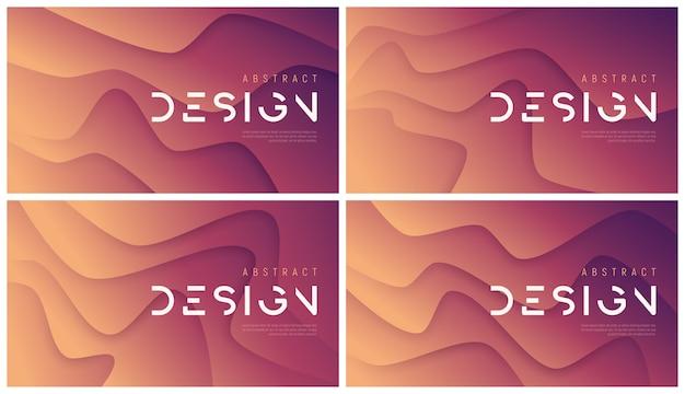 Abstrakte wellige hintergründe, trendige minimalistische designs. papercut-stil.