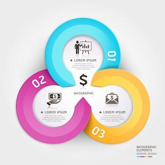 Abstrakte wirtschaftskreisorigamiartwahlen infographic.