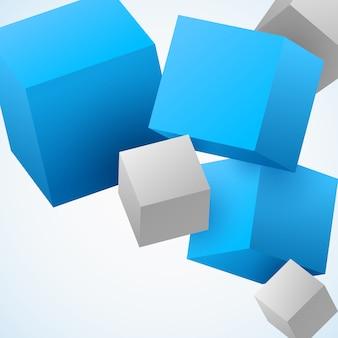 Abstrakte würfel 3d