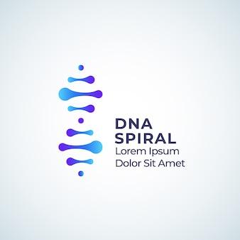 Abstrakte zeichen-, symbol- oder logo-schablone der dna-spirale.