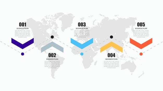 Abstrakte zeitleiste infografik element design