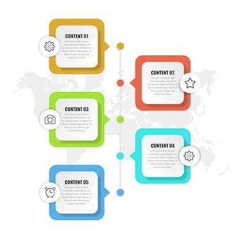 Abstrakte zeitleiste infografik geschäftsstrategie