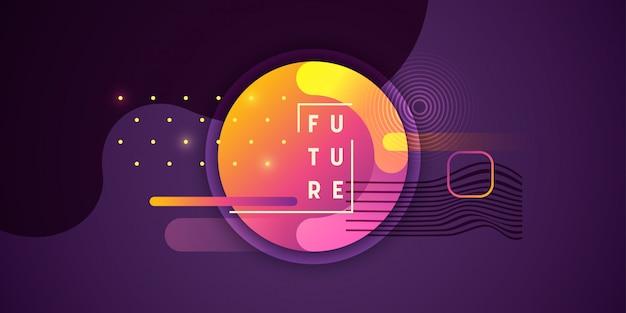 Abstrakte zukünftige hintergrundauslegung