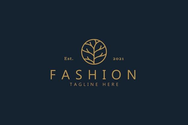 Abstrakte zweig logo für frau symbol business company wie mode, spa, kosmetik, schönheit, garten, schmuck, bio, hochzeit, etc.