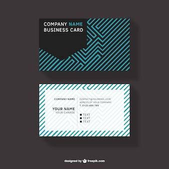 Abstrakten design visitenkarte kostenlosen download