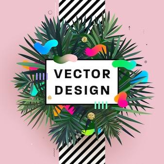 Abstrakten hintergrund design mit palme blätter