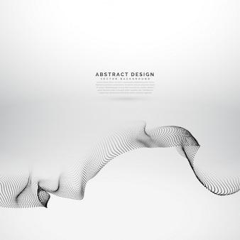 Abstrakten teilchen-welle in techno-stil