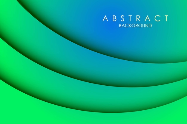 Abstrakter 3d bunter bunter papierschnitt schichtet kurvenhintergrund