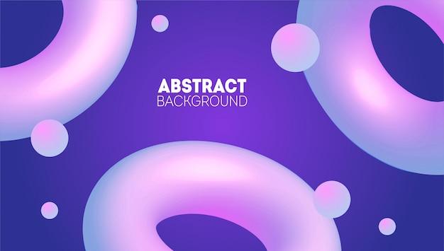 Abstrakter 3d hintergrund mit rosa formen