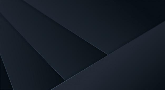 Abstrakter 3d hintergrund mit schwarzen papierschichten.