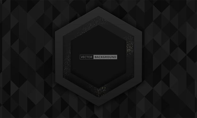 Abstrakter 3d-hintergrund mit schwarzen papierschichten