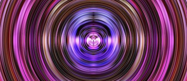 Abstrakter 3d-kreisillustrationshintergrund mit kurvigem buntem und leuchtendem linienentwurf
