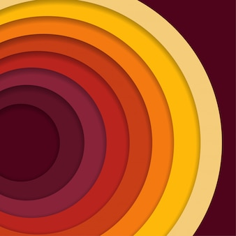 Abstrakter 3d-papierschnitthintergrund