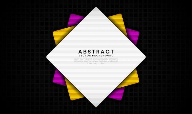 Abstrakter 3d-rauten-luxushintergrund mit zufälliger quadratischer textur, überlappungsschicht mit bunter formdekoration