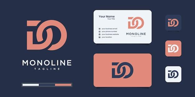 Abstrakter anfangsbuchstabe d & o oder logo-vorlage. symbole für das geschäft mit mode, branding, einfach.