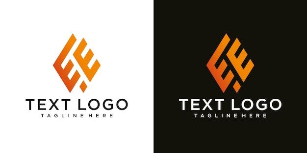 Abstrakter anfangsbuchstabe ee e minimale logo-design-vorlage