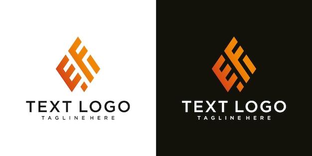 Abstrakter anfangsbuchstabe ef ef monogramm logo-design-vorlage