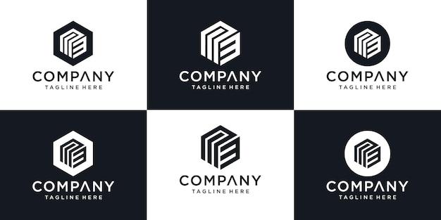 Abstrakter anfangsbuchstabe m3 m 3 minimale logo-design-vorlage