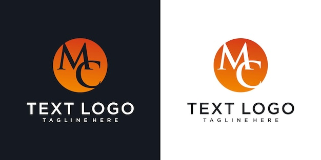 Abstrakter anfangsbuchstabe mc mc minimale logo-design-vorlage