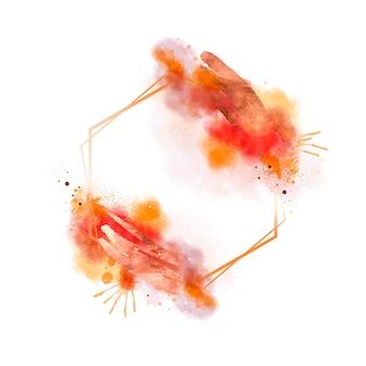 Abstrakter aquarell gemalter rahmen