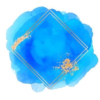 Abstrakter aquarell goldener quadratischer rahmen