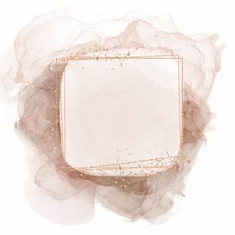 Abstrakter aquarell-quadrat-rahmen