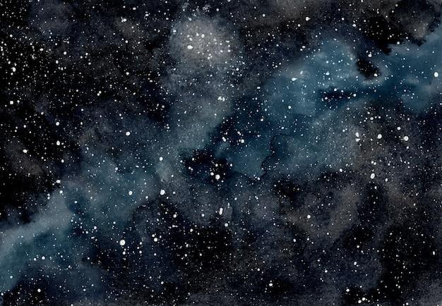 Abstrakter aquarell-weltraumhintergrund mit sternen