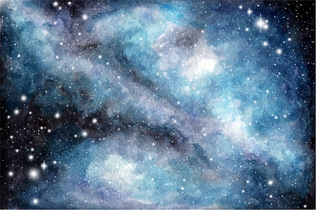 Abstrakter aquarellgalaxienhimmelhintergrund