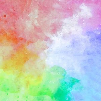 Abstrakter aquarellhintergrund des regenbogens